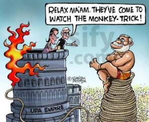 Salman kurshid calling NaMo a monkey